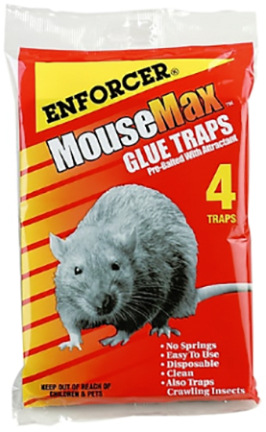 MM4 MOUSEMAX MOUSE GLUE TRAPS 4PK