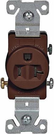 1877B-BOX 20A GRD SGL RECPT BR 125V