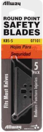 KBS-5 ROUNDED POINT SAFETY KNIFE BLADES 5/CD