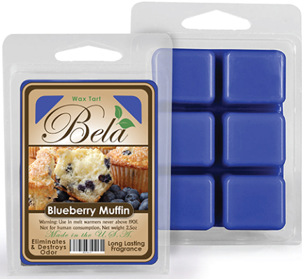 Bwm-02 Bela Wax Melt 2 1/2 Oz Blueberry Muffin