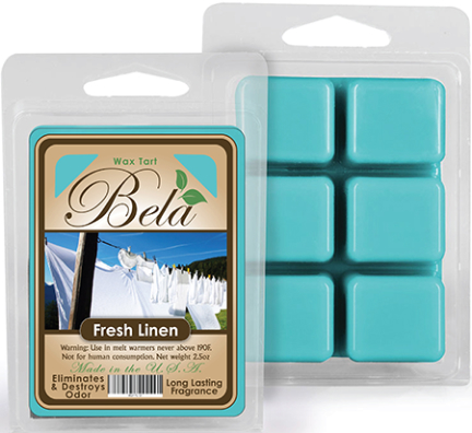 Bwm-05 Bela Wax Melt 2 1/2 Oz Fresh Linen