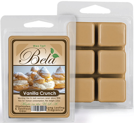 Bwm-12 Bela Wax Melt 2 1/2 Oz Vanilla Crunch