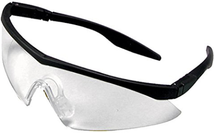 10021259 STRAIGHT TEMPL CLEAR SAFETY GLASSES