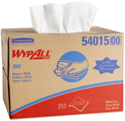 54015 Wypall Reusable Cloths White 252/ct