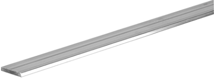 "11285(1/8""x1/2""x3')  Aluminum Flat"