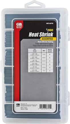 HST-ASTB 3 L BLK HEAT SHRNK TUBING160/KIT