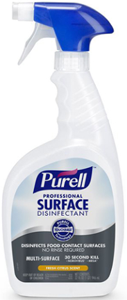 3342-06 DISINFECTANT PURELL PRO SURFACE 6/32