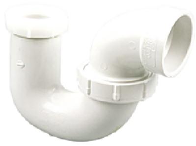 K00595C P TRAP W/UNION PVC DWV 1 1/2 IN