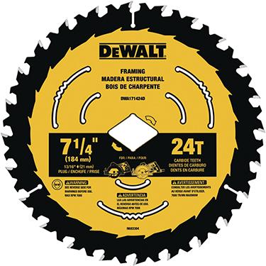 Dwa171424b10 7-1/4in Bla Ck & Yellow Blade