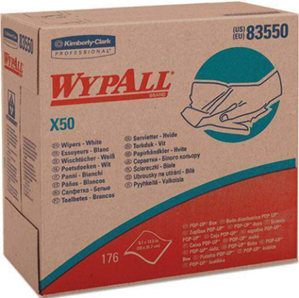 83550 WYPALL WIPERS X50 WHITE 176 SHEETS/PACK